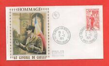 FDC 1971 - Hommage au Générale De Gaulle (1439)