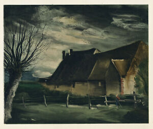 "Maurice Vlaminck lithograph by Mourlot ""Haute-Folie"""