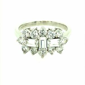 9ct White Gold Fancy Cluster Ring