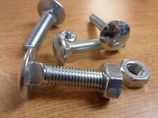 50 No M12 x 60mm, Cup Sq Hex, Coach Bolts, Complete with Nuts, B.Z.P.