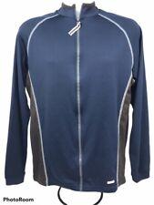 Nike Dri-Fit Mens XL Blue Long Sleeve Full Zip Athleticwear Cycling Jersey