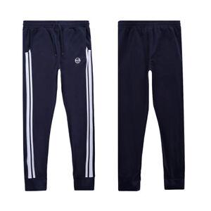 Sergio Tacchini Men's Sweat Pants Damarindo Slim Fit Track Bottoms in Navy Blue
