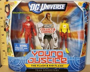 DC Universe Young Justice THE FLASH & KID FLASH Action Figure 2 Pack Amazo BAF