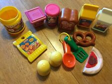 VINTAGE LITTLE TIKES 12 PIECES PRETEND PLAY FOOD BOXES PRETZELS PIZZA MILK JUICE