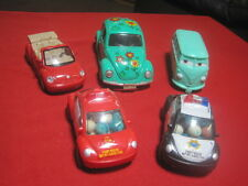 Lot of 5 VW Volkswagen Model Cars, Bug Beatle Bus ALL Working PULL BACK ACTION