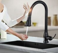 Sensor Wasserhahn schwarz Küchen Armatur Einhebelmischer Automatik Touch ❤️NEU❤