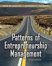Patterns of Entrepreneurship Management by Warren and Kaplan, 3rd Edition