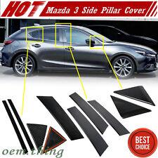 Carbon For Mazda 3 3rd Sedan Hatchback Side Door Pillar Post Cover Trim 2017
