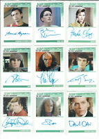 Star Trek The Next Generation Heroes & Villains 2013 Autograph Card Selection