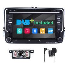 "2Din 7""Car Stereo DAB Radio DVD For VW Passat Golf Transporter T5  GPS SatNav BT"
