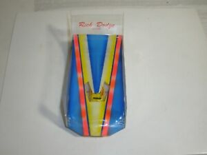 Vintage 1/24  Slot Car wing car very nice condition TESTED runs blue yellow orn