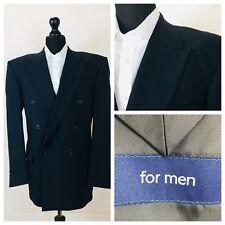 For Men Mens Jacket Blazer Chest 42 Navy Blue Double Breasted  GR813