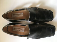 R.MARTEGANIMEN BOUTIQUE LINE  SHOES,ITALY.101/2,M,BLACK,ALL LEATHER.