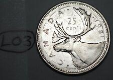 Canada 1981 25 cents Canadian Caribou Quarter Coin Lot #L03