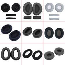 2 Replace Headphone Sponge Ear Pad Cover Cushion Black for Sennheiser HD215 LOT