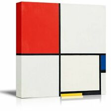 "Wall26 - Composition by Piet Mondrian - Canvas Print Wall Art - 24"" x 24"""