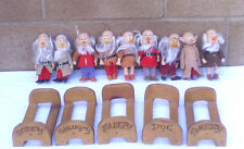 The Seven Dwarfs Extras Included  ~ Disney Figures / Total 9 Pcs / Used