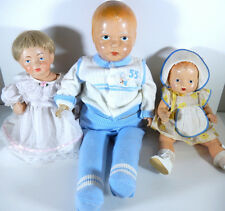 VINTAGE COMPOSITION BABY DOLLS LOT OF 3