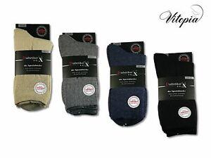 Vitopia® 6 Paar Herren Diabetiker Socken ohne Gummi Gesundheitssocken
