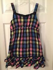 JUSTICE Checkered Top/Dress Sz.16 EXC
