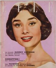 AUDREY HEPBURN Gary Cooper BILLY WILDER Chanel fabrics FRENCH ELLE magazine VTG