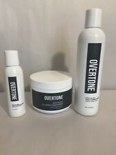 Overtone Rich Black Hair Conditioner 8oz Coloring & 8oz & 2oz Daily Sealed.