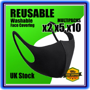 HQ Face Mask x1/2/5 Multipacks Breathable Washable Reusable Face Cover UK STOCK