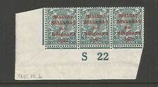 Ireland 1922 mint 4d 10a SG6c Carmine TC46 S22 control in strip of 3 CV$315.00