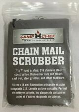 New Camp Chef 7in x 7in Chainmail Scrubber Silver 7in x 7in FREE SHIPPING