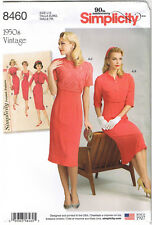 Vtg 50s Slim Wiggle Sheath Dress Cropped Jacket Sewing Pattern 14 16 18 20 22