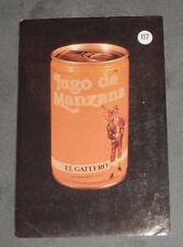 CALENDARIO DE LA MARCA JUGO  DE MANZANA DEL AÑO 1988