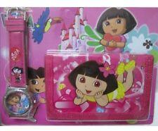 NEW Children's Kids Girls DORA THE EXPLORER Purse Wallet Watch Toy Gift Set 3