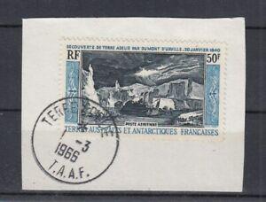 Französisch Antarktis - TAAF   31  Adelieland   auf Briefstück  oo