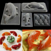 Plastic 3D Fish Cake Koi Jelly Handmade Sugarcraft Mold DIY Chocolate Mould
