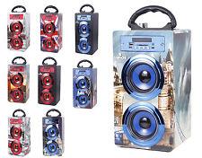 ALTAVOZ PORTATIL con KARAOKE Bluetooth USB Micro SD Radio Fm Microfono Incluido