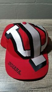 VINTAGE NCAA INDIANA UNIVERSITY IU HOOSIERS 90's THE GAME BIG LOGO SNAPBACK HAT