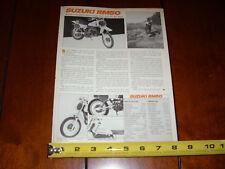 1979 SUZUKI RM50 - ORIGINAL ARTICLE