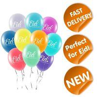 Eid Mubarak Balloons (Pack of 10) - Eid Decorations Party - Multicoloured - MM