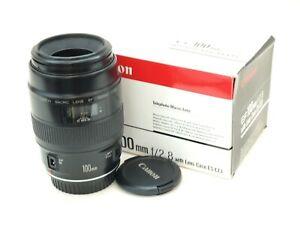 Canon EF 100mm Macro Lens for EOS Cameras..Slight Fault.. Stock No u13301