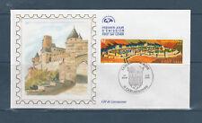 enveloppe  1er jour  la cité de Carcassonne 11 Aude   2000