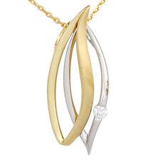 Halsketten und Anhänger aus Gelbgold mit Diamanten floralen Themen