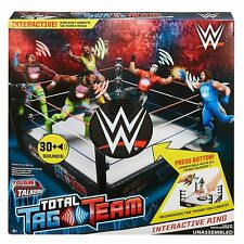 WWE Tough Talkers Total Tag Team Interactive Ring Playset **BRAND NEW**