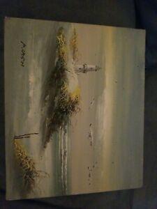 P. Cristi Oil on canvas paintings unframed