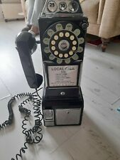 More details for wild & wolf reproduction diner wall telephone - 1950's style phone