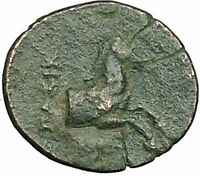 Kolophon in Ionia 360BC Apollo and Horse on Authentic Ancient Greek Coin  i51863