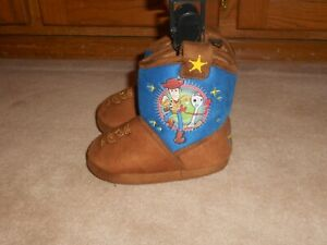 NEW, Toddler Boy Size 7-8 Disney Toy Story Woody Brown Boot Slippers Shoes