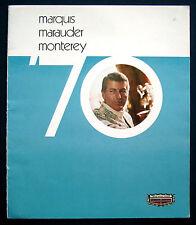 Prospekt brochure 1970 Mercury Marquis * Marauder * Monterey (USA)