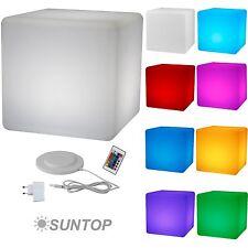 LED Design Cube Sitzwürfel 40cm Leuchtwürfel Hocker Beistelltisch Lounge Möbel