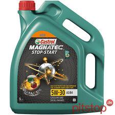 5L CASTROL MAGNATEC STOP-START 5W-30 A3/B4 MOTORÖL VW 50200 50500 RN0700 RN0710