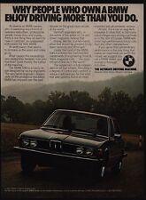 1977 BMW 530i Luxury Car People Who Own BMW Enjoy Driving More Than U VINTAGE AD